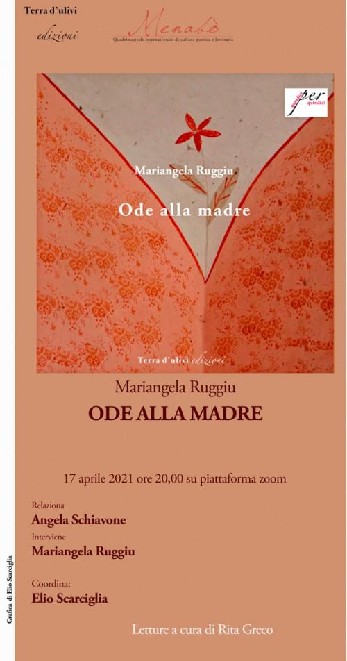 """Presentazione di """"Ode alla madre"""" di Mariangela Ruggiu"""