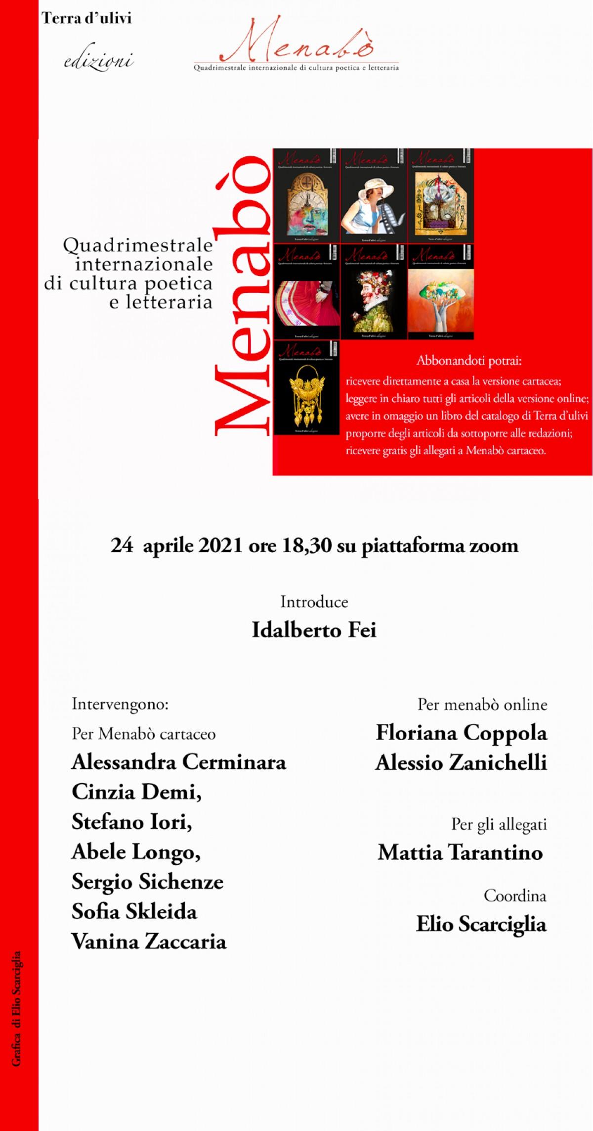 Presentazione di Menabò 24 aprile 2021